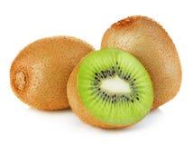 Kiwi fruit close-up isolated o.n white royalty free stock images