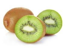 Kiwi fruit close-up isolated o.n white stock photography