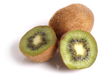 Kiwi Fruit Closeup. On white background royalty free stock photos