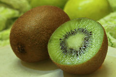 Kiwi Fruit Closeup 2 Fotos de Stock Royalty Free