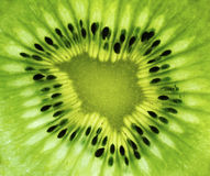 Kiwi fruit closeup. Kiwi fruit centre texture close up Royalty Free Stock Photo