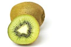 Kiwi fruit. Closeup isolated on white background stock image