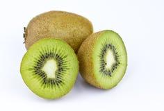 Kiwi fruit. Closeup isolated on white background stock photos