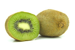 Kiwi fruit cross section view Royalty Free Stock Image