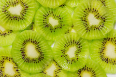 Kiwi fruit cut ​​into pieces. Stock Images