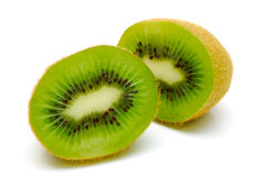 Kiwi fruit cut in half Royalty Free Stock Photography