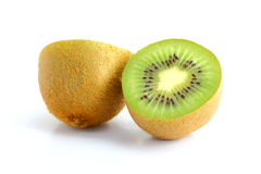 Kiwi fruit cut in two pieces Royalty Free Stock Images