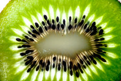 Kiwi fruit. Detail of a the core of a fresh piece kiwi fruit Royalty Free Stock Image