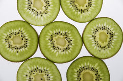 Kiwi fruit disks Stock Images