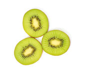 Kiwi Fruit. Eye of a Sliced Kiwi Fruit Royalty Free Stock Images