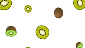 Kiwi fruit falling in Looping  stock video