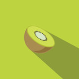 Kiwi Fruit Flat Design Vector Lizenzfreies Stockbild
