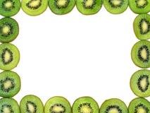 Kiwi Fruit Frame. Isolated Royalty Free Stock Photo