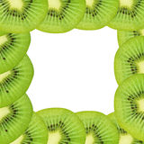 Kiwi fruit, frame design for background Stock Photo
