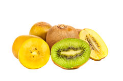 Kiwi fruit, gold and green kiwi Royalty Free Stock Photography