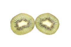 Kiwi fruit halves Stock Images