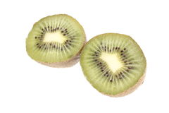 Kiwi fruit halves Royalty Free Stock Photography