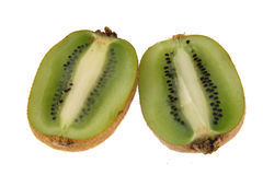 Kiwi Fruit Halves Royalty Free Stock Images
