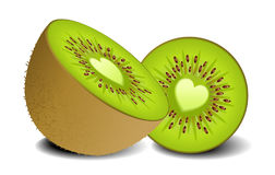 Kiwi fruit heart Stock Images