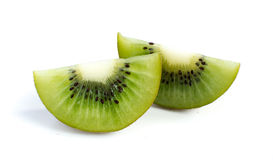 Kiwi fruit and his sliced segments Stock Image