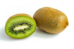 Kiwi fruit and his sliced segments isolated on white background Royalty Free Stock Image