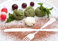 Kiwi Fruit Ice Cream Royalty Free Stock Photos