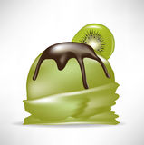 Kiwi fruit of ice cream Royalty Free Stock Images