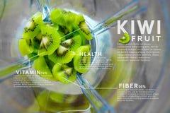 Kiwi fruit Infographic template, Health, Vitamin, Fiber. photo illustration