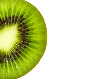 Kiwi fruit inside with seeds. Close up shot Stock Photography