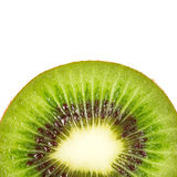 Kiwi fruit inside with seeds. Close up shot Royalty Free Stock Photos