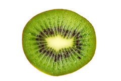 Kiwi fruit inside with seeds. Close up shot Stock Images