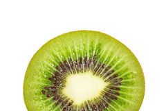 Kiwi fruit inside with seeds. Close up shot Stock Photos