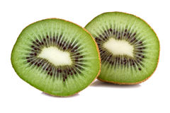 Kiwi Fruit Isolated su bianco Fotografie Stock Libere da Diritti