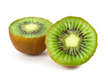 Kiwi fruit isolated. On white Stock Photos