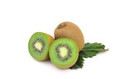 Kiwi fruit isolated on white bacground. Kiwi fruit isolated on white Royalty Free Stock Image