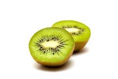 Kiwi fruit isolated on white background. Kiwi fruit, sliced on two parts. Liying on white background. Isolated Stock Photo