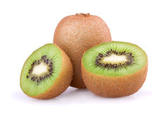 Kiwi fruit isolated on white background Royalty Free Stock Photos