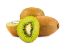 Kiwi fruit isolated on white background Stock Image