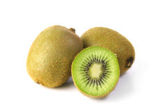 Kiwi fruit isolated on white background Royalty Free Stock Images