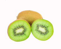 Kiwi fruit. Isolated on white background Royalty Free Stock Photo