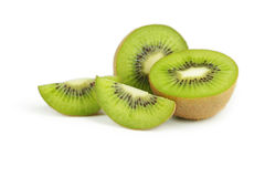 Kiwi fruit isolated on white background. Royalty Free Stock Photo