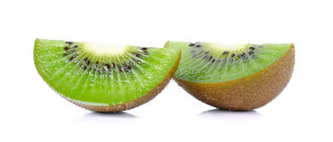 Kiwi fruit isolated on the white background Royalty Free Stock Photography