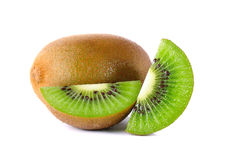 Kiwi fruit isolated on the white background Royalty Free Stock Photos