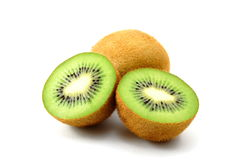 Kiwi fruit isolated on white background Stock Photo