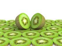 Kiwi fruit isolated on white background Royalty Free Stock Photography