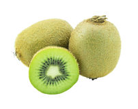 Kiwi fruit isolated on white background. (clipping path in side Royalty Free Stock Photo