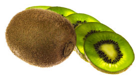 Kiwi fruit isolated on white background. Fresh piece kiwi fruit isolated on white background Stock Photo