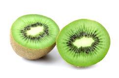 Kiwi fruit isolated on white background, macro Stock Photos