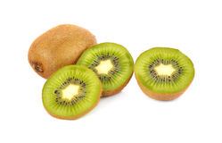 Kiwi fruit isolated on white background, macro Royalty Free Stock Photos