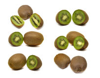 Kiwi fruit isolated on white background. Macro Royalty Free Stock Photos